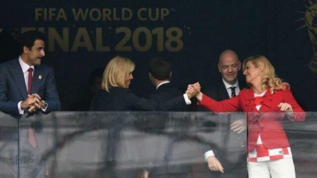 لباقة أمير قطر تجاه زوجة ماكرون تلفت أنظار الفرنسين