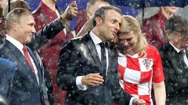 ماكرون يصطحب رئيسة كرواتيا للاحتفال مع المنتخب الفرنسي