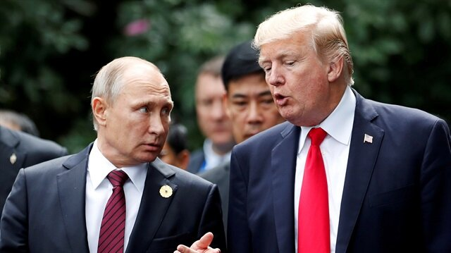 Vladimir Putin and Donald Trump share awkward handshake at Helsinki summit