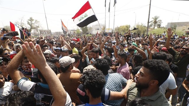 Protesters gather at Iraq's Siba gas field