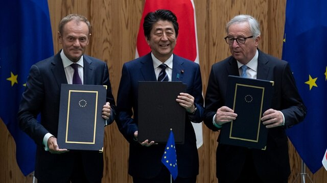 Japan, EU sign free trade pact amid worries about Trump policies