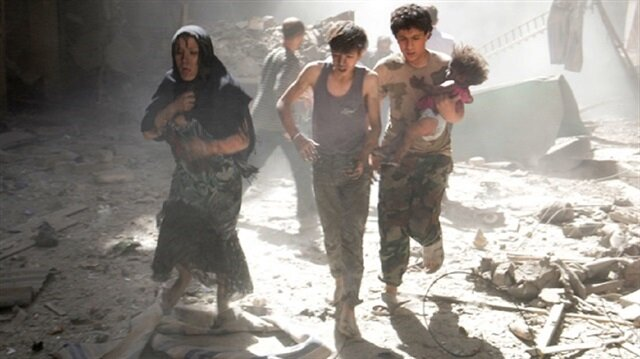 Syrian regime barrel bomb attack on school kills 10 civilians in Quneitra