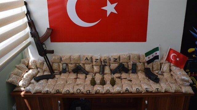 Azez'de 2 milyon adet uyuşturucu hap ele geçirildi