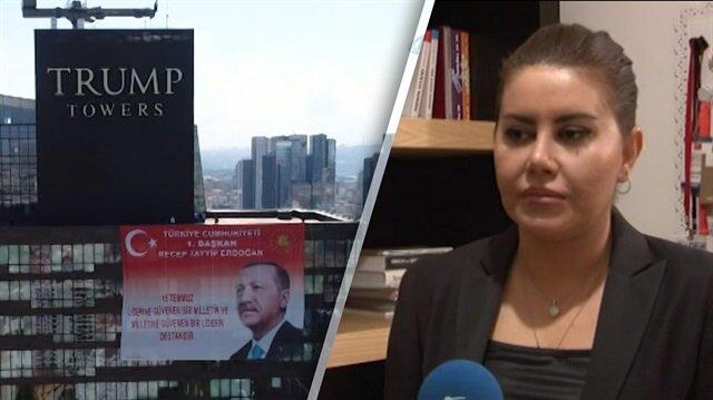 Erdoğan'ın posteri Trump Towers'a bakın nasıl asıldı