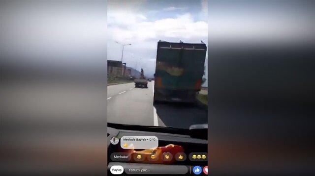 Canlı yayında feci kazayı görüntüledi