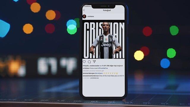 Ronaldo'nun Juventus transferi paylaşımı üç gün içinde dünyanın en çok beğeni alan fotoğrafları listesinde 4. sıraya ulaştı.