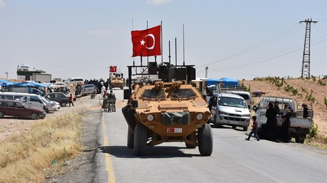 Turkish army conducts 17th round of patrols in Manbij