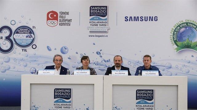 """في إسطنبول وعلى مضيق البوسفور.. بطولة """"سامسونغ للسباحة عبر القارات"""""""