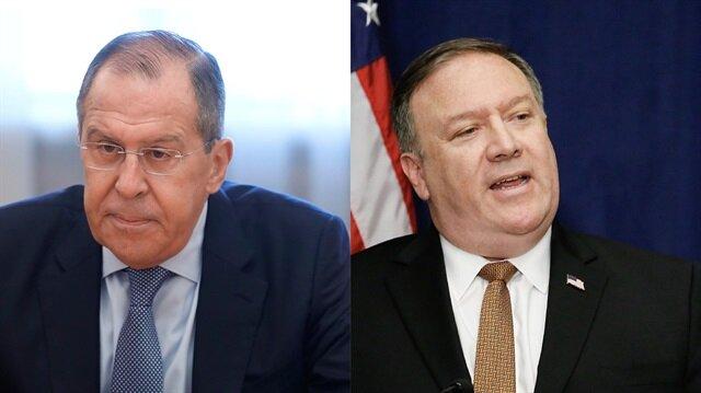 Pompeo ile Lavrov telefonda Suriye'yi görüştü