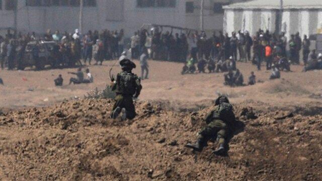 İsrail güçleri Gazze sınırında bir Filistinliyi yaraladı