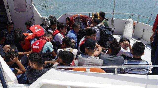 Çanakkale'de 42 kaçak göçmen yakalandı