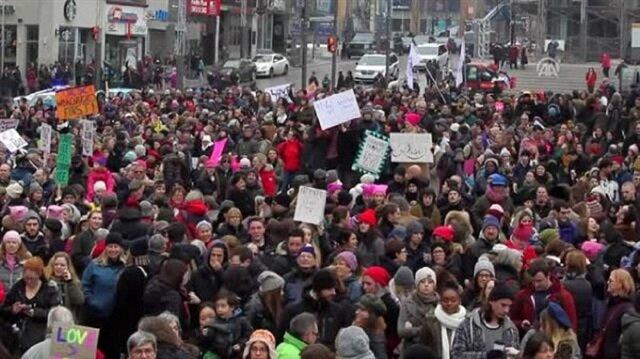Kanada'da İslamofobi'ye karşı sokağa döküldüler