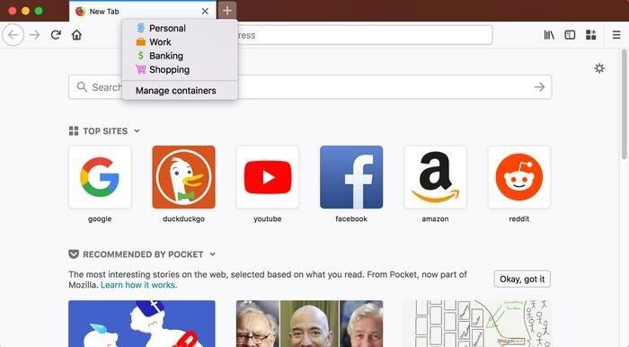 Firefox Multi Accounts Containers, en başarılı eklentilerden biri ve çoklu hesap yönetimi sayesinde ön plana çıkıyor.