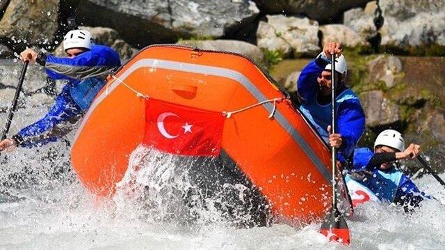 Türkiye raftingde şampiyon oldu
