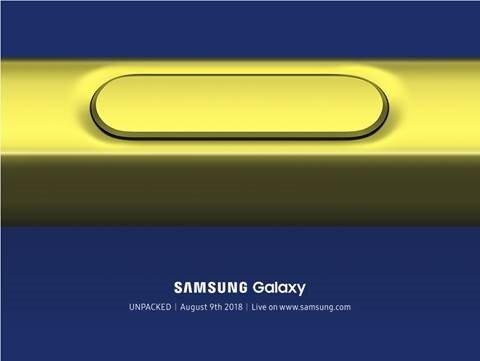 Samsung Galaxy Note 9'un basın davetiyeleri bu şekilde. New York'taki Unpacked etkinliğinin bu yıl yine görkemli olması bekleniyor.