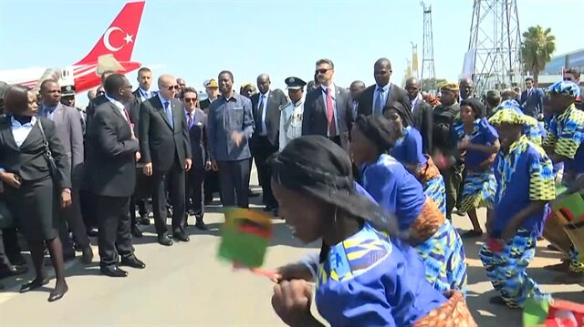 Erdoğan Zambiya'da böyle karşılandı