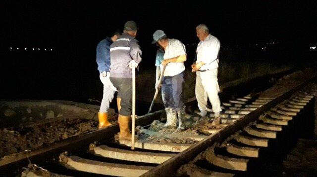 Aydın'da tren kazasını makinistin dikkati önledi