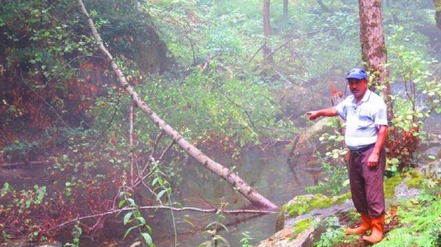 Köylüler, dere ve su yataklarındaki birikintilerin üzerini kuru ağaç dallarıyla kapattı.