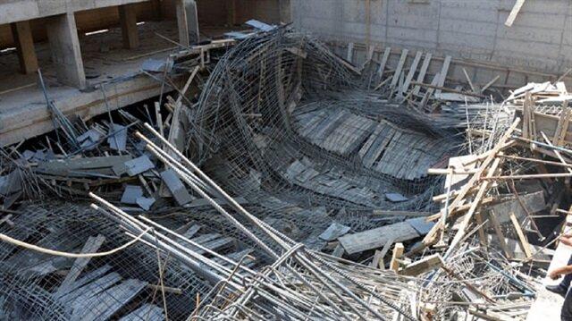 Kahramanmaraş'ta inşaatta göçük: 3 işçi yaralandı