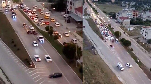 Samsun'da trafikte skandal görüntü