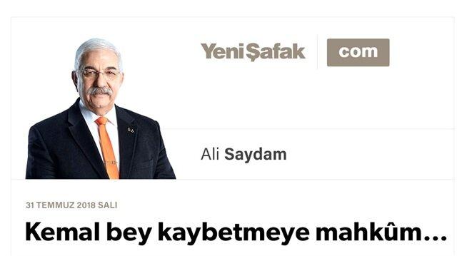 Kemal bey kaybetmeye mahkûm…