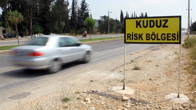 Sağlık ekipleri tarafından kuduz vakasına rastlanılan bölge karantinaya alındı.