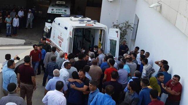 Korkulu ve İzgü'nün cenazeleri otopsi için Siirt Devlet Hastanesi morguna kaldırıldı.