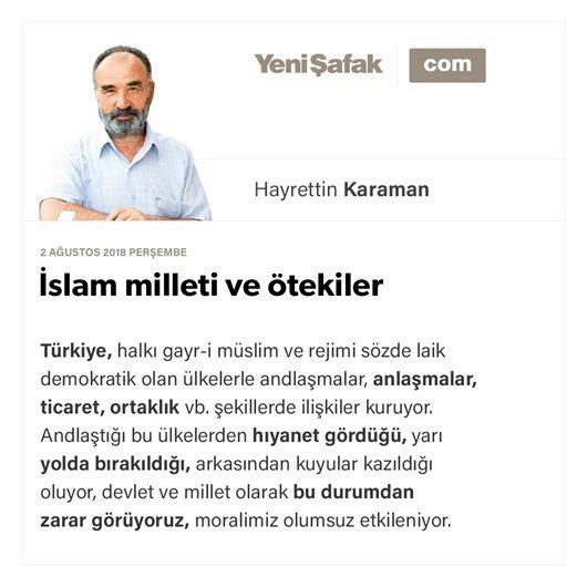 İslam milleti ve ötekiler