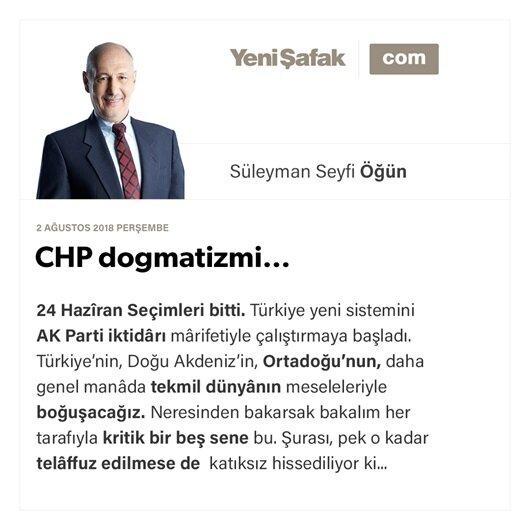 CHP dogmatizmi…