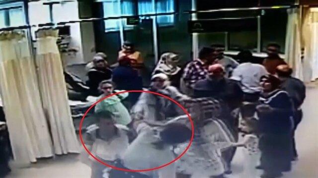 Hasta yakınları kadın güvenlik görevlisini darp etti