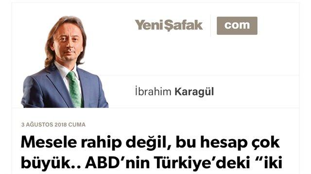 """Mesele rahip değil, bu hesap çok büyük.. ABD'nin Türkiye'deki """"iki eli"""" kesilmiştir.. ABD açık tehdittir, Türkiye davası nettir!"""