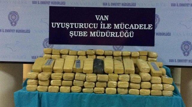 Van Emniyet Müdürülüğü'nün operasyonunda  385 kilo eroin ele geçirildi. Arşiv.