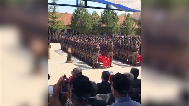 Ey şanlı ordu ey şanlı asker... PÖH'lerden tüyleri diken diken eden mezuniyet töreni