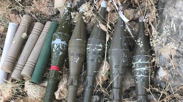 PKK'lı teröristlere ait silah ve mühimmat olduğu bilgisi üzerine operasyon başlatıldı.