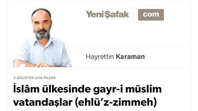İslâm ülkesinde gayr-i müslim vatandaşlar (ehlü'z-zimmeh)