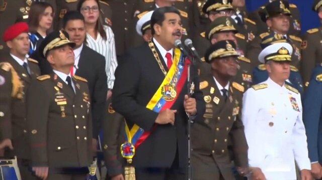 Venezuela Devlet Başkanı Maduro'ya suikast anı kamerada
