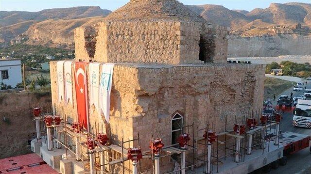 650 yıllık tarihi Artuklu Hamamı taşındı