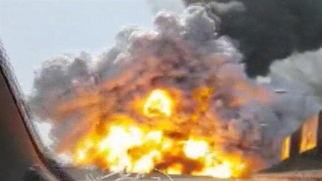 İtalya'da korkunç patlama anı
