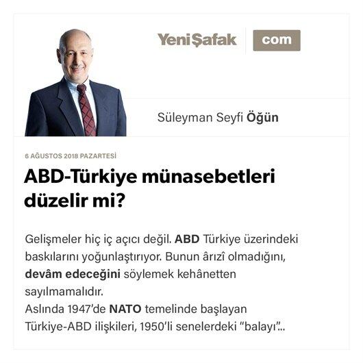 ABD-Türkiye münasebetleri düzelir mi?