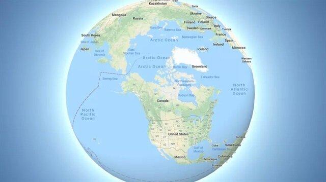 Dünya, Google Haritalar artık bu şekilde görünüyor.