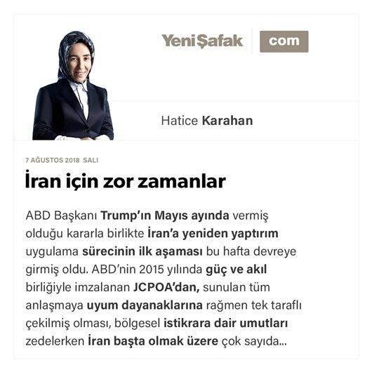 İran için zor zamanlar