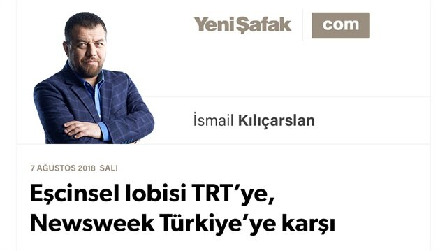 Eşcinsel lobisi TRT'ye, Newsweek Türkiye'ye karşı