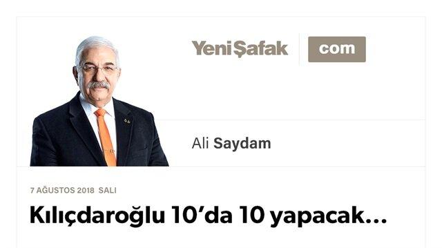 Kılıçdaroğlu 10'da 10 yapacak…