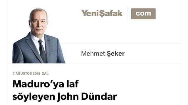Maduro'ya laf söyleyen John Dündar