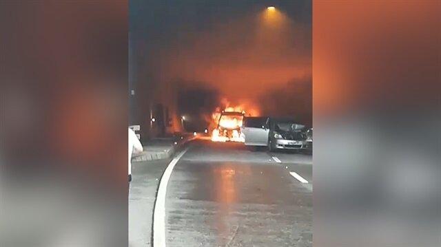 Ordu'da tünelde kaza: LPG'li araç patladı!