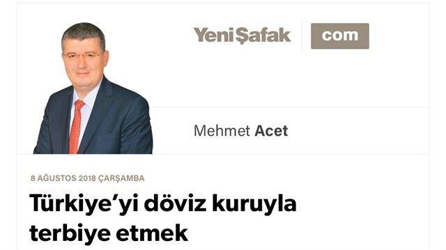 Türkiye'yi döviz kuruyla terbiye etmek