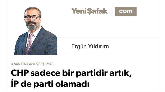 CHP sadece bir partidir artık, İP de parti olamadı
