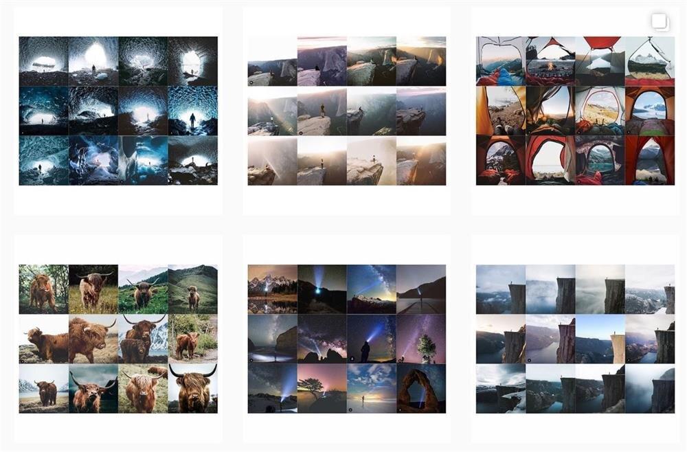 Insta Repeat'te paylaşılan fotoğraflardan bazıları bu şekilde.