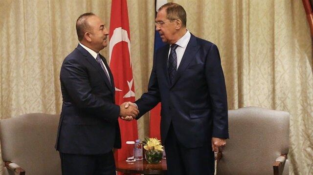Dışişleri Bakanı Mevlüt Çavuşoğlu ve Rus mevkidaşı Sergey Lavrov