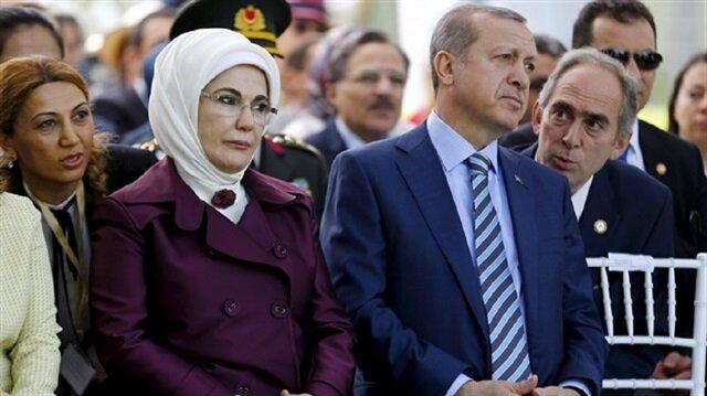 الرئيس التركي وعقيلته أمينة أردوغان